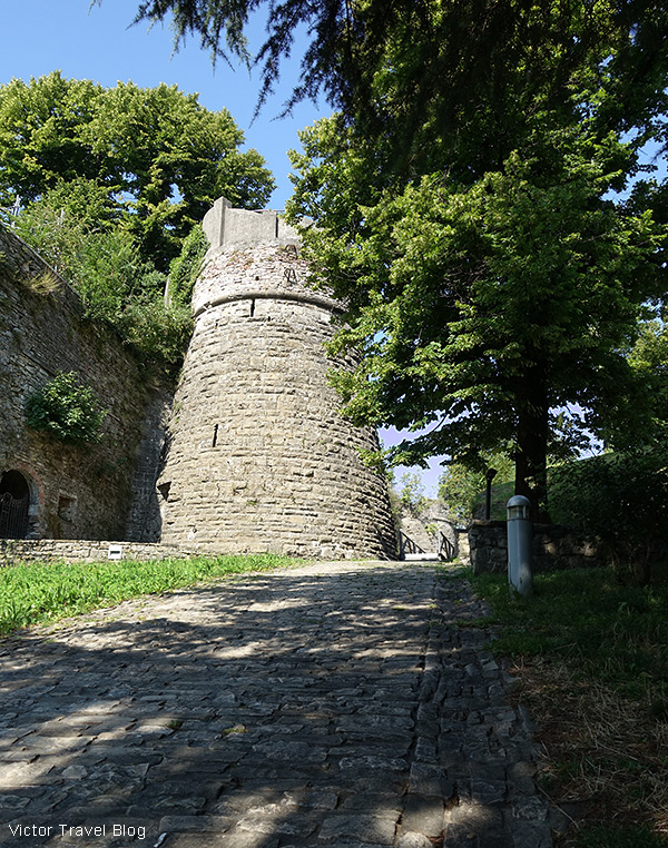 The castle of San Vigilio, Bergamo, Italy.