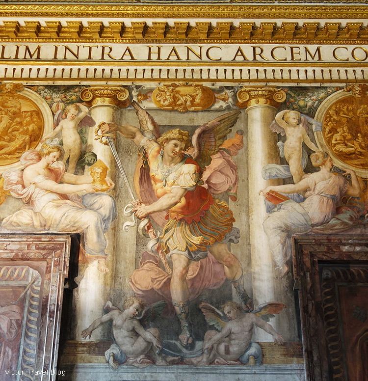 Frescoes. Castel Sant'Angelo, Rome, Italy.
