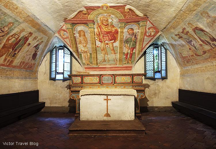 Frescos of the church of San Michele al Pozzo Bianco, Bergamo, Italy.