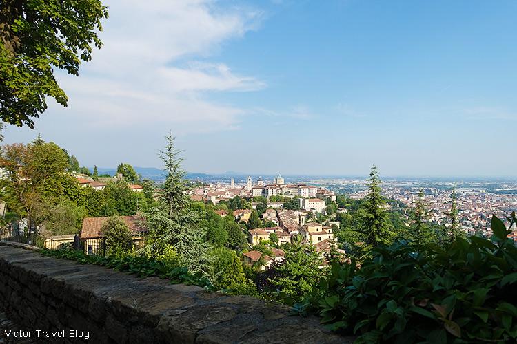 The Upper Town of Bergamo, Italy.