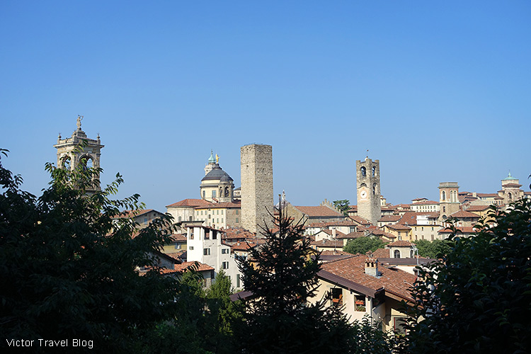 The Upper Town of Bergamo, Italy.
