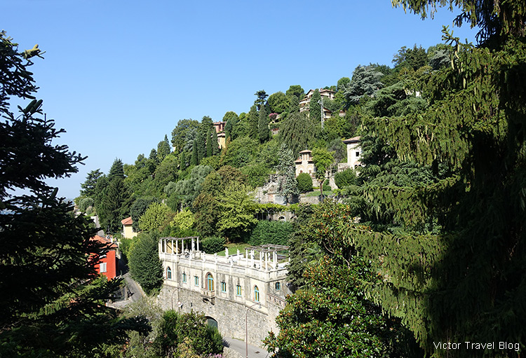 A villa in the Upper Town of Bergamo, Italy.