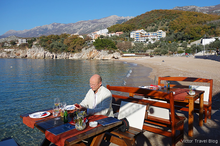 In the fishing village of Przno, Montenegro.