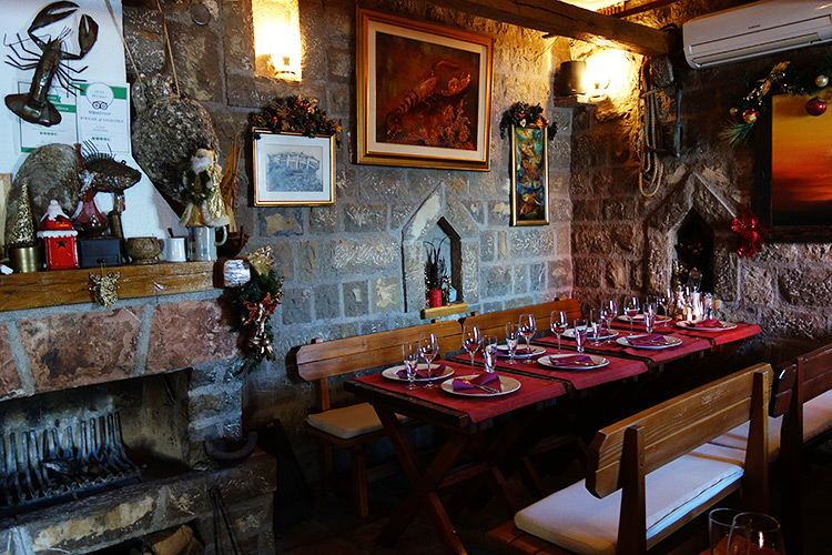 In a restaurant of the Budva Old Town, Montenegro.