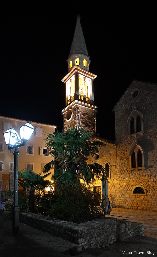 Saint Ivan Church, Budva Old Town, Montenegro.