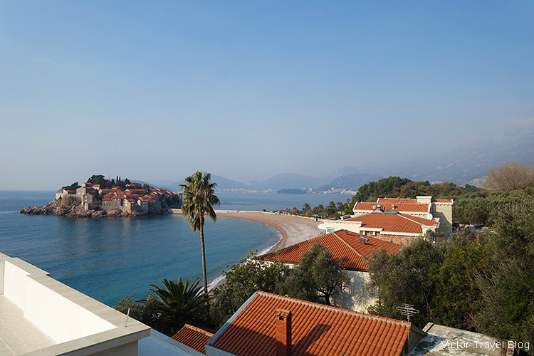 Sveti Stefan, Montenegro, in winter.
