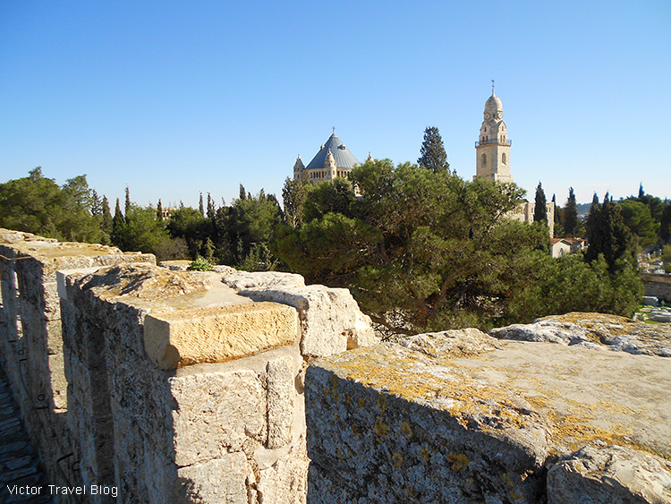 The Dormition Abbey on Mount Zion, Jerusalem, Israel.