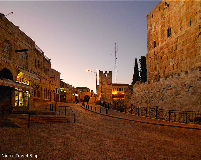 Jaffa Gate, the Old City of Jerusalem, Israel.