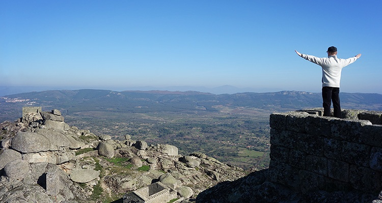 Panoramic view from the Castle of Monsanto, Portugal.