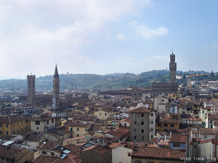 A view from Giotto's Campanile, Florence, Italy.