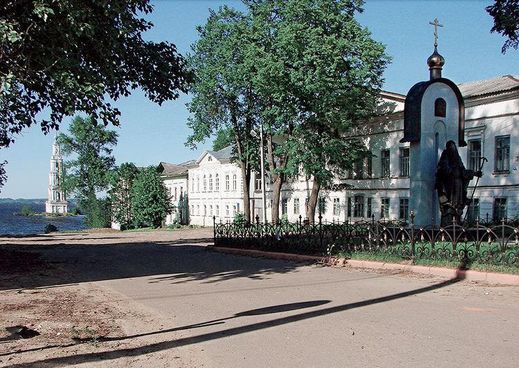 Karl Marx street of the modern Kalyazin, Russia.