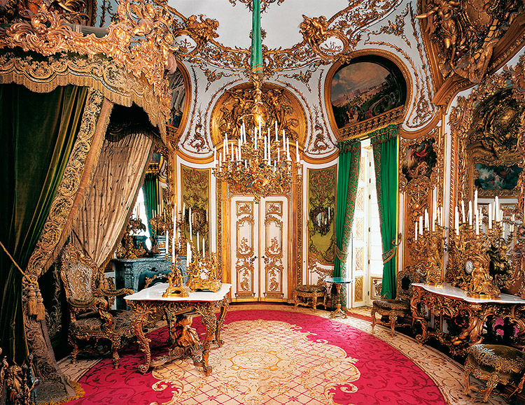 Audience room, Linderhof Palace, Bavaria, Germany.