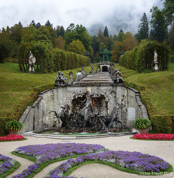 Neptune Fontain, Linderhof, Bavaria, Germany.