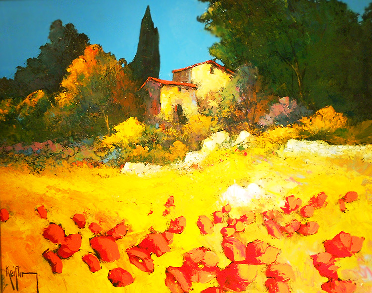 Authentic Provence. A painting.