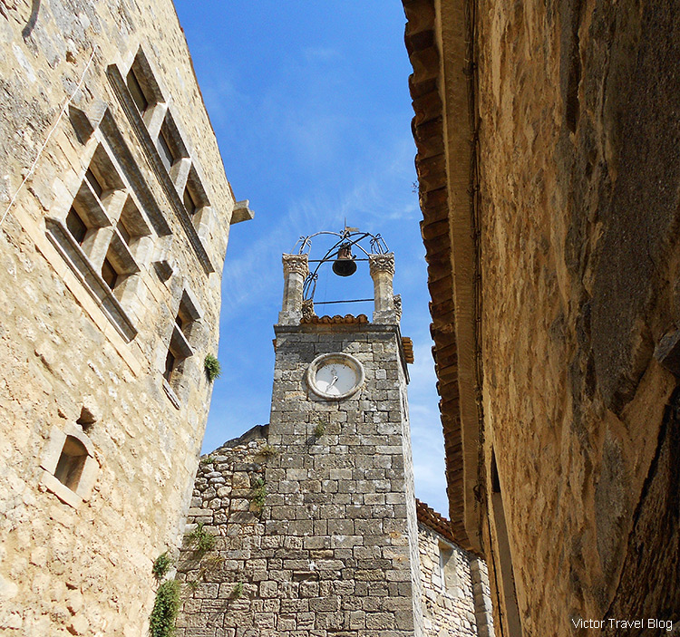 The bell tower of Lacoste, Provence, France.