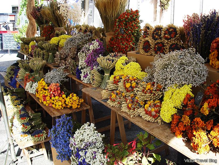A farmer market, Gordes, Provence, France.