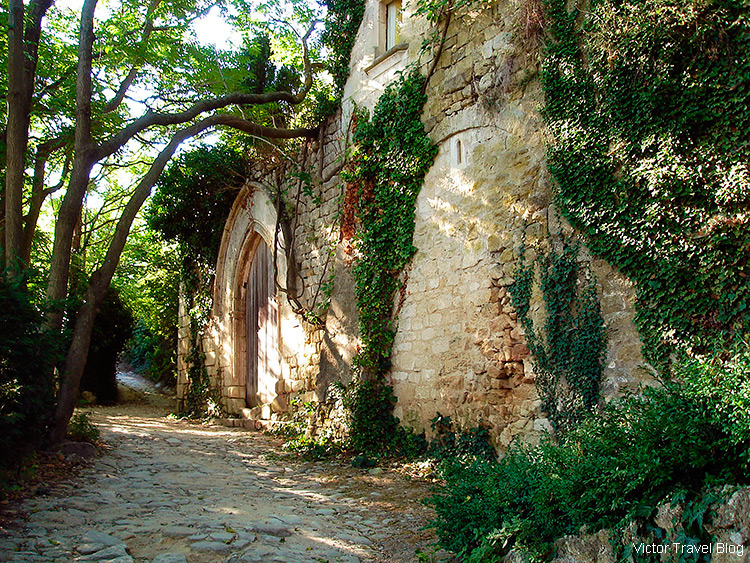 A lived-in house in the old Oppede le Vieux, Provence, France.