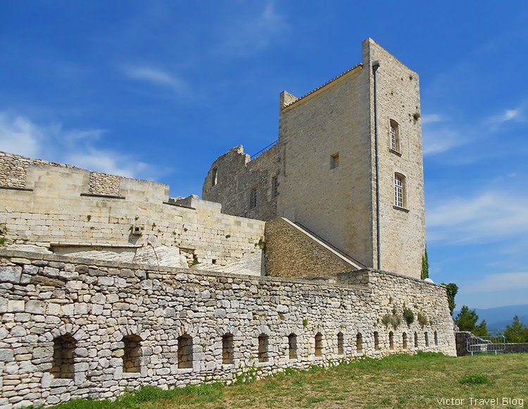 In the castle of Lacoste, Provence, France.