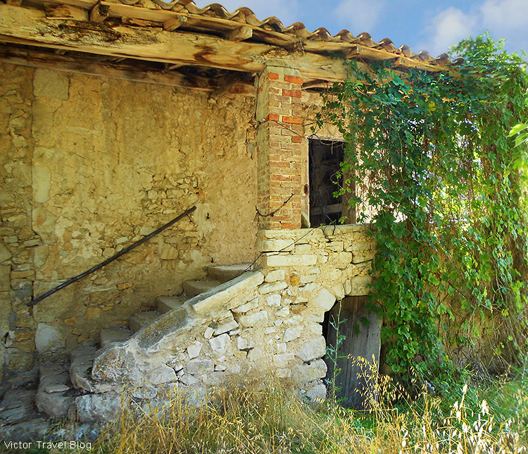 A neglected house in Provence, France.