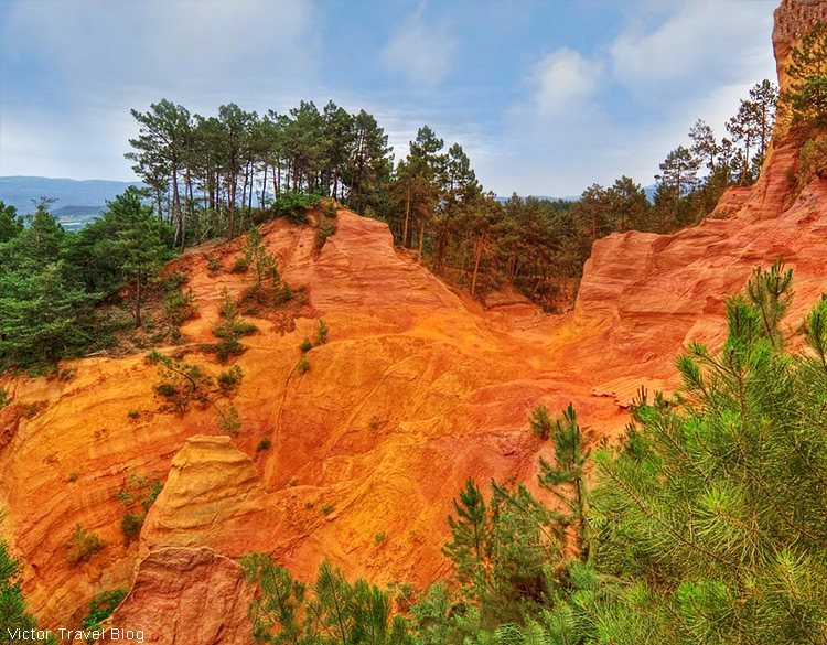An ochre quarry, Roussillon, Provence, France.