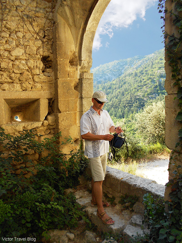 In the ruins of Oppede le Vieux, Provence, France.