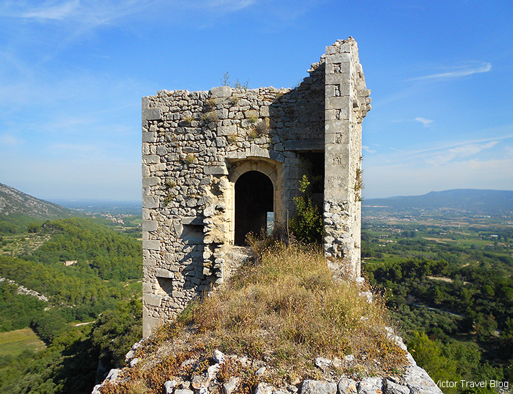 Ruins in the old Oppede le Vieux, Provence, France.