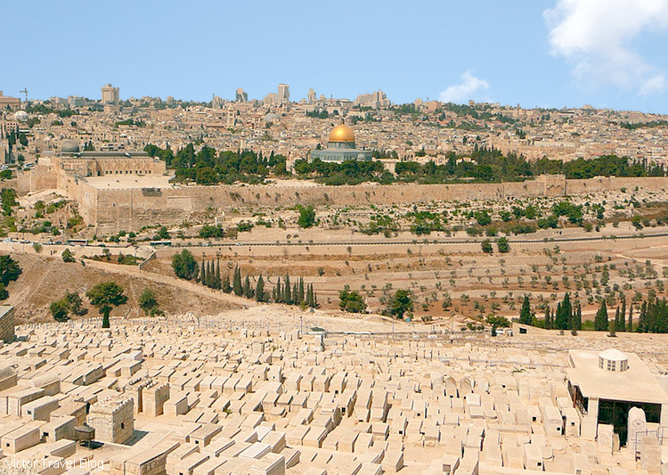 The cemetery at the Mount of Olives, Jerusalem, Israel.