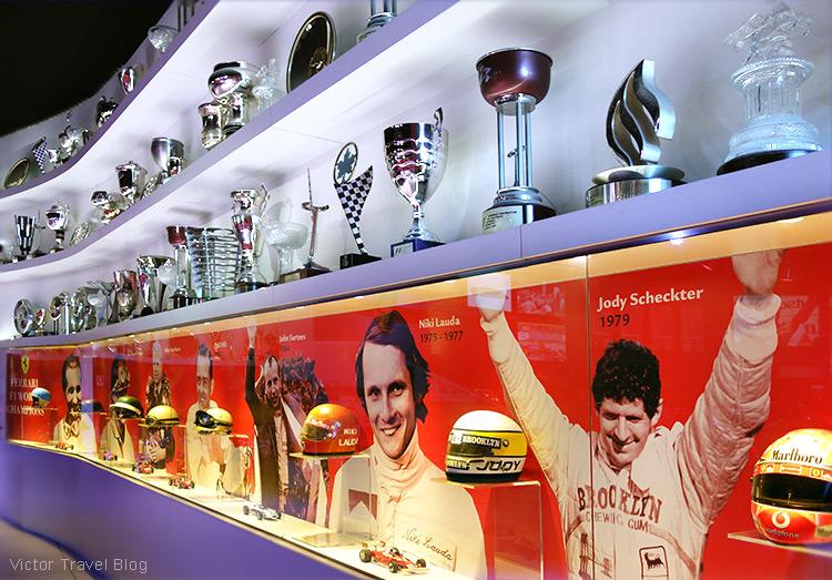 Hall of Fame, the Ferrari Museum, Maranello, Italy.