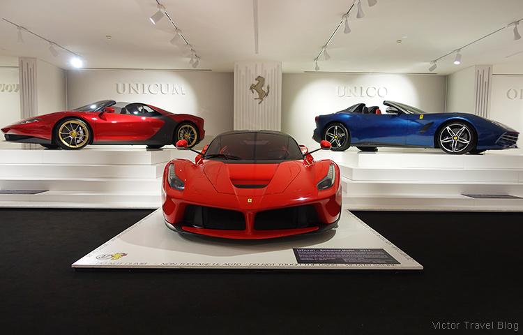 Prototypes of road cars, the Ferrari Museum, Maranello, Italy.