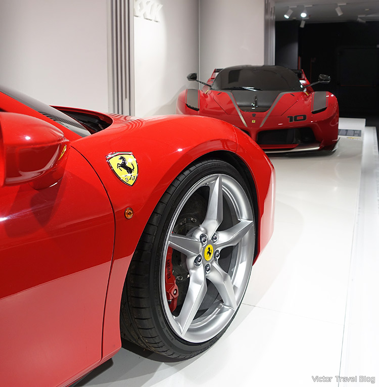 Prototypes of road cars, the Ferrari Museum, Maranello, Italy.
