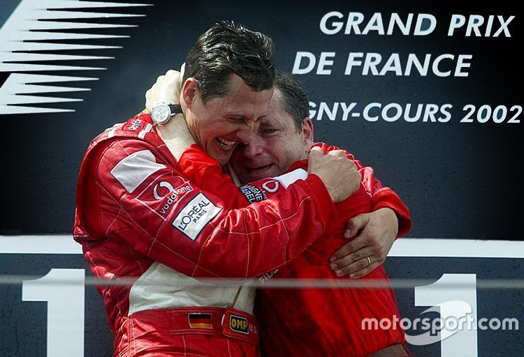 Schumi and Jean Todt, Grand Prix de France 2002.