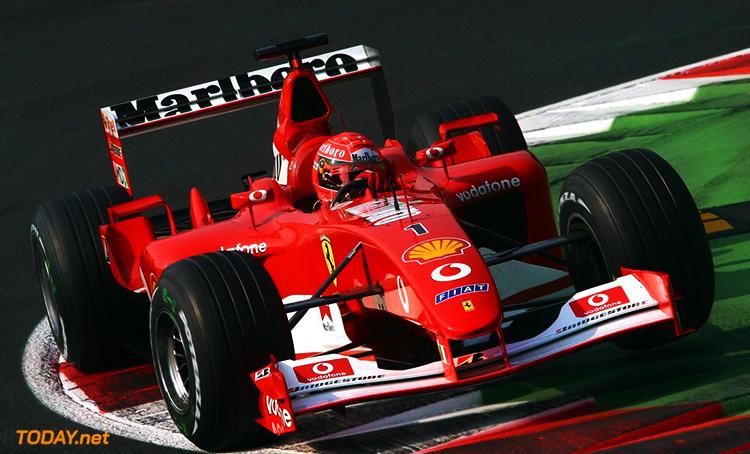 Schumi in his Ferrari.