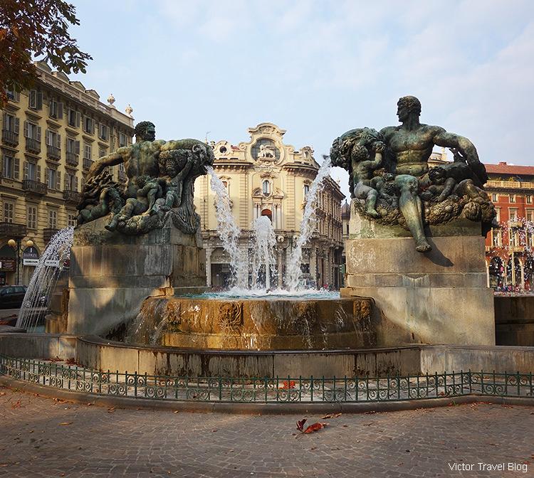 Fontana Angelica, Turin, Italy.